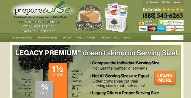 PrepareWise homepage