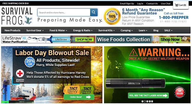 Survival Frog homepage