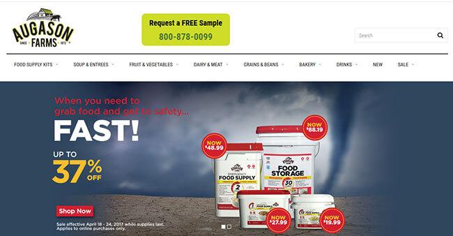 Augason Farms Homepage