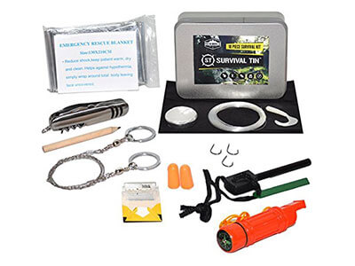 SharpSurvival Survival Tin Emergency Preparedness Survival Kit