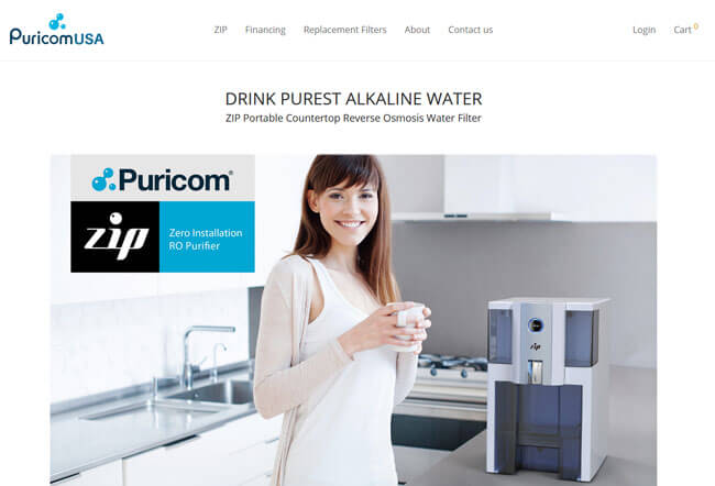 PuricomUSA homepage
